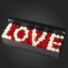 ww一生所爱-——99支精品红色、白色玫瑰混搭