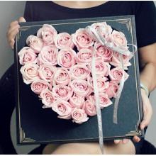 甜蜜爱情——33支精品粉玫瑰