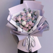 幸福的约定——33支精品紫玫瑰