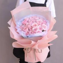 甜蜜糖果——33支精品粉玫瑰