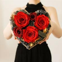 爱的意义——永生花心形礼盒