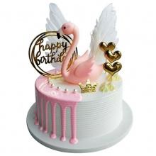 火烈鸟——网红圆形奶油蛋糕