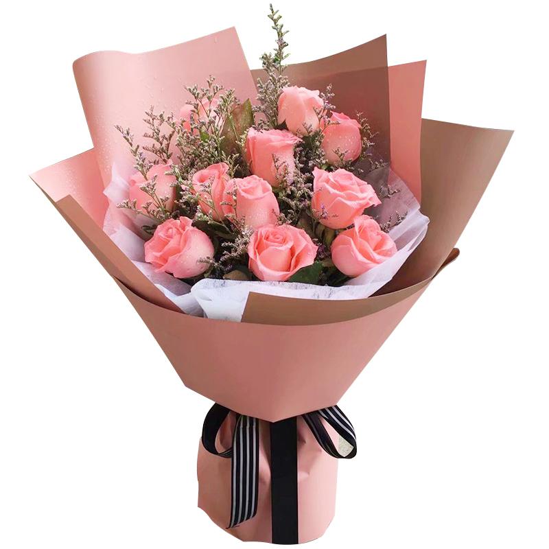 美丽如她——11支精品粉玫瑰