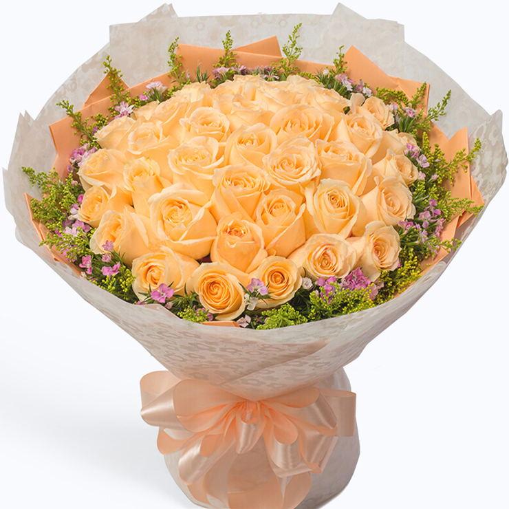 爱你三生三世——33支香槟玫瑰