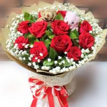 红尘作伴——11支精品红玫瑰