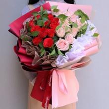 一生一世——27支精品混色玫瑰